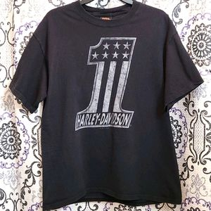 Harley-Davidson 1 Black Tshirt Large